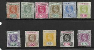 Seychelles 1906 set mm