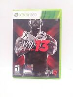 WWE '13 (Microsoft Xbox 360, 2012)  Game and Case Tested Fast Shipping