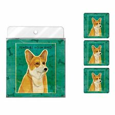Tree-Free Greetings John W. Golden 4-Pk Artful Coaster Set, Pembroke Welsh Corgi
