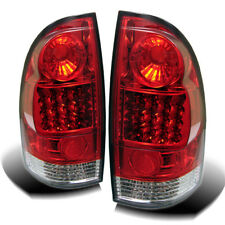 Toyota 05-15 Tacoma Red Clear LED Rear Tail Lights Lamp Set SR5 X/Pre-Runner