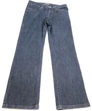 T TAHARI Jeans Mid Rise Boot Cut Dark-Blue Wash SIZE US 12 x 32 Inseam