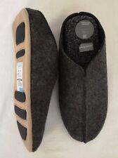 M & S Mens Grey Freshfeet Felt Slip On Mule Slippers Size 8 EUR 42