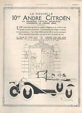 ▬► PUBLICITE ADVERTISING AD VOITURE CAR 10HP ANDRE CITROËN DULIN 1919