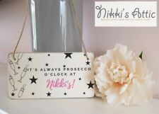 Personalised Prosecco Plaque, Sign, Home,Gift, Wooden , Handmade, 20cm x 10cm