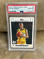 KEVIN DURANT⚡️2007 Topps Rookie Card #2 PSA 10 GEM MINT RC🔥Nets HOT