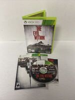 VG The Evil Within Microsoft Xbox 360 2014 Complete w Manual Cleaned Tested