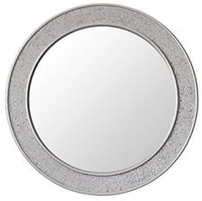 Round Mosaic Wall Silver Mirror - Large - 60 Cm Diameter - Bathroom Lounge