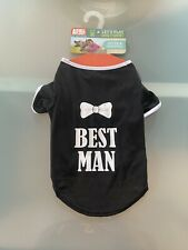 NEW ANIMAL PLANET ADORABLE Dog Best Man T Shirt SIZE Medium FREE Delivery