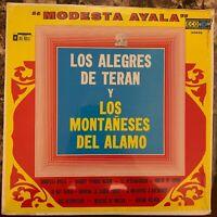 LOS ALEGRES DE TERAN & LOS MONTAÑESES DEL ALAMO -MODESTA AYALA- MEXICAN LP NORTE