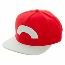 *NEW* Nintendo Pokemon Ash Ketchum Youth Adjustable Snapback Hat Cap Coral Red