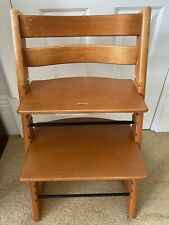 Stokke Tripp Trapp Highchair In Beautiful And Rear Cherry Wood Colour Gliders