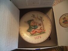 1979 Hummel Annual Plate in Bas Relief by Goebel, Original Box