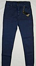 jeans push up donna LIZALU' slim vita alta elasticizzati denim casual blu