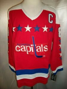 """Alex Ovechkin Washington Capitals Red """"1987-1995 Throwback"""" CCM NHL Jersey"""