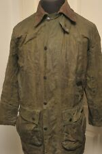 """BARBOUR A200 BORDER WAX COTTON JACKET 36"""" / 91CM GREEN SMALL"""