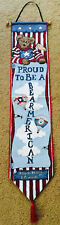 Boyds Bears Proud To Be A Bearmerican Tapestry Wall Hanging Bellpull
