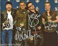 U2   8 x 10 Autograph Reprint  Bono  The Edge  Adam Clayton  Larry Mullen, Jr.