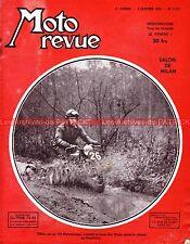 MOTO REVUE 1117 NORTON Dominator 7 500 88 Featherbird Freins Side Car MILAN 1953