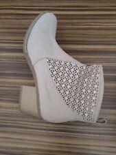 Ladies Beige Suede Boots Size 41 Hardly Worn