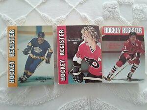 The Sporting News Hockey Registers 1973-74,1974-75,1976-77