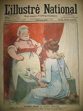 L'ILLUSTRé NATIONAL N° 43 HUMOUR CARICATURE DESSINS GUILLAUME GERBAULT 1903