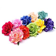 Femme Pince Cheveux Fleur Rose Tissu Barrette Broche Épingle Clip Bijoux Mariage