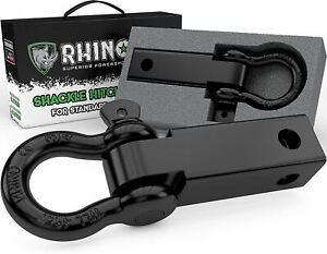 Rhino USA Shackle Hitch Receiver, Best Towing Accessories for Trucks & Jeeps, Co