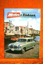 Motor + Fahrer Reise Revue 2/57 Karmann Ghia Coupe