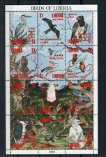 SBI31 Birds Liberia 1994 MS MNH