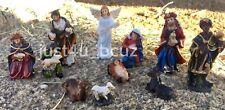 New Christmas Nativity Set Scene Figurines Figures Baby Jesus Nacimiento