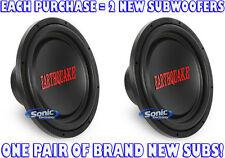 "2) Earthquake Sound TREMOR-X154 1500W 15"" Single 4 ohm Tremor-X Car Subwoofers"