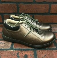 Drew P221 Therapeutic Comfort Lace Up Metallic Brown Shoes Women's Size 8M