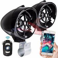 Black Bluetooth Motorcycle Audio Stereo MP3 Speaker System Honda Yamaha Kawasaki