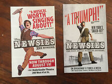 Disney Newsies the musical mini ad/flyer NYC Broadway Jeremy Jordan plus bonus