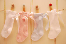 PEX Ribbon Bow Knee High socks  Newborn up to size 6-8½