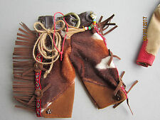 Real Western mini Chaps leather & fur suede detailed Ornament doll clothes or ?