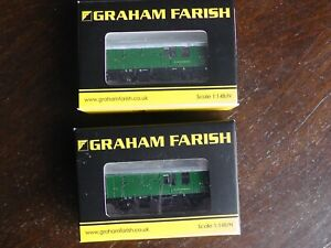 2 off Graham Farish BR Mk1 Horse Boxes. N gauge. Ref 373-362A. Mint and unused.