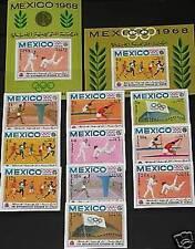 KINGDOM YEMEN JEMEN KÖNIGREICH 1968 493-502 B Block 73 75 B Olympics Mexico MNH