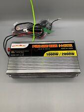 MICRO SOLAR Pure Sine Power Wave Inverter 12V DC- 120V AC AC Solar Car Truck