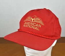 Red & Gold American National Eagle Rubber Strap Baseball Cap