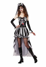 Skeleton Queen Halloween Fancy Dress Outfit Costume Size 10-14