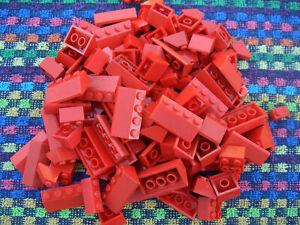 150 rote Lego Basic Dachsteine / Dachziegel rot City Haus Schrägsteine 45° L001