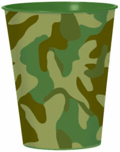 Camouflage Party Favour Plastic Cup 473ml - Camouflage Party Supplies