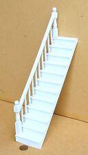 1:12 peint en blanc en bois wdolls house stair case + gauche fixe bannister rail