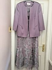 Jacques Vert LILAC GREY Chiffon Dress Jacket Mother of the Bride Suit Wedding 20
