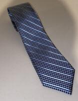 Donna Karan New York DKNY Mens Silk Neck Tie - Silver/Blue