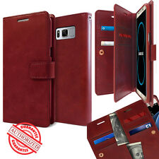 Dual Card Flip holder leather wallet lock Case cover for Galaxy S8 /iPhone 7 /G6