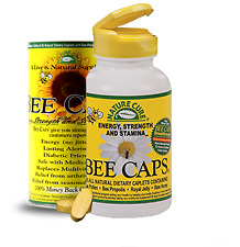Nature Cure Bee Caps Natural Dietary Energy Supplement  Made USA