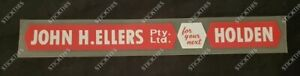 Holden Dealership Dealer Decal Sticker - John H. Ellers PTY LTD - SA