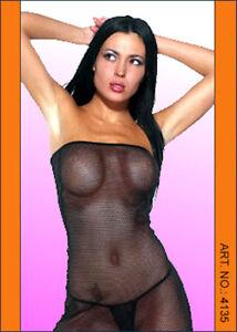 New - BLACK SEE THROUGH MICRO DRESS & MATCHING THONG - Australian Seller - CL029